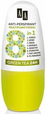 AA anti-perspirant multifunctional 8w1 GREEN TEA  24H 50 ml