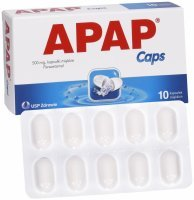 Apap Caps 500 mg x 10 kaps