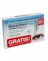Bepanthen Eye krople do oczu 10 ml + Bepanthen eye krople do oczu 0,5 ml x 10 szt GRATIS !!!