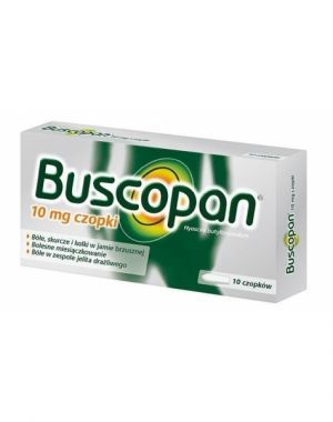 Buscopan 10 mg x 10 czopków