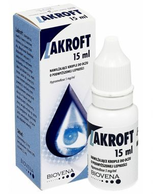 Lakroft krople do oczu 15 ml