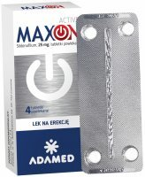 Maxon active 25 mg x 4 tabl