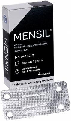 Mensil 25 mg x 4 tabl do żucia