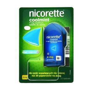 Nicorette coolmint 4 mg x 20 tabl do ssania