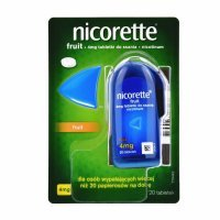 Nicorette fruit 4 mg x 20 tabl do ssania
