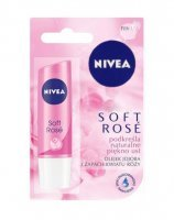 Nivea lip care - pomadka ochronna rose 1 szt