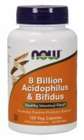 NOW Foods 8 Billion Acidofilus&Bifidus x 120 kaps