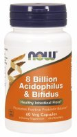 NOW Foods 8 Billion Acidofilus&Bifidus x 60 kaps