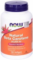 NOW Foods Natural Beta Carotene x 180 kaps