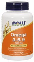 NOW Foods Omega 3-6-9 (1000 mg) x 100 kaps
