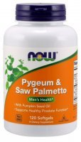 NOW Foods Pygeum&Saw Palmetto x 120 kaps