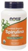 NOW Foods Spirulina 500 mg x 200 tabl