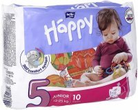 Pieluchy Happy Junior x 10 szt (12-25 kg)