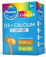 Plusssz Junior D3 + Calcium x 30 tabl