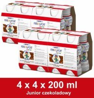 Resource Junior czekoladowy w czteropaku (4x) 4 x 200 ml
