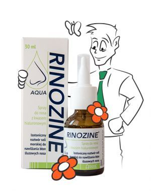 Rinozine AQUA spray do nosa z kwasem hialuronowym 30 ml