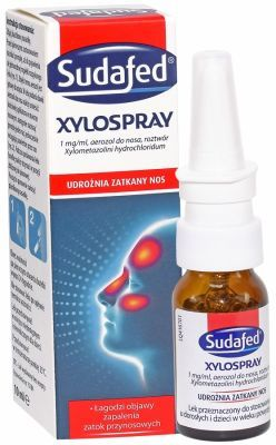 Sudafed xylospray 1 mg/ml aerozol 10 ml