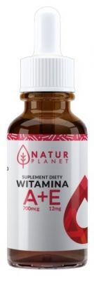 Witamina A + E krople 30 ml (Natur Planet)